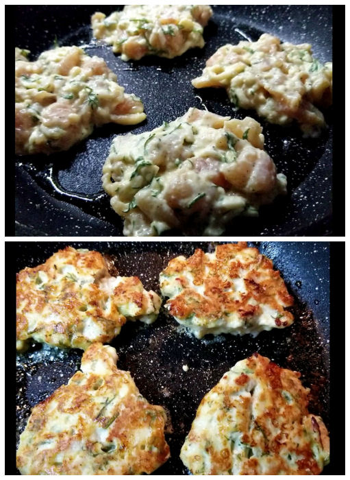 How to make cheesy chicken fritters