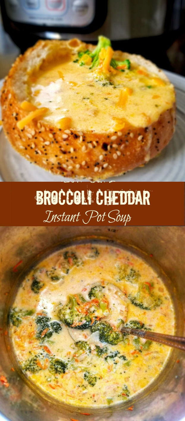 Better than Panera Broccoli Cheddar Instant Pot Soup recipe