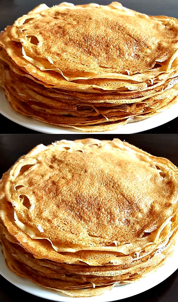 Russian crepes - super thin with crispy edges