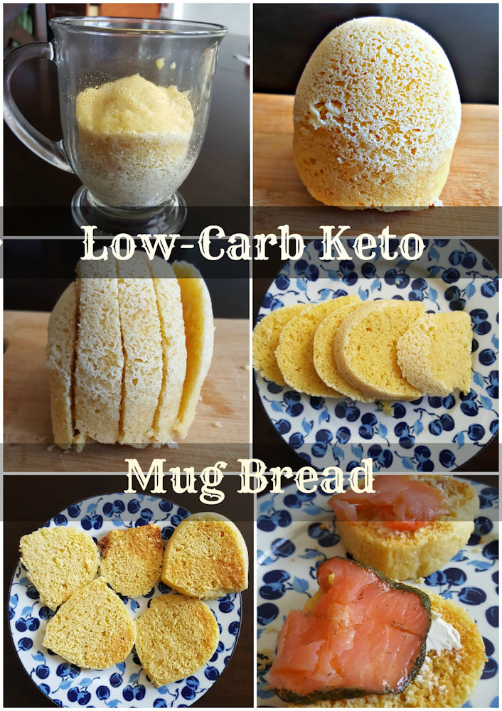 Keto low carb mug bread