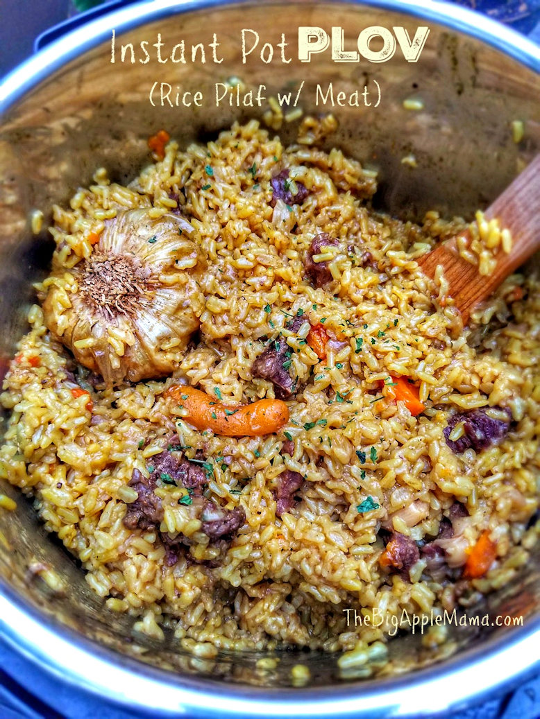Instant Pot Plov (rice pilaf with meat)