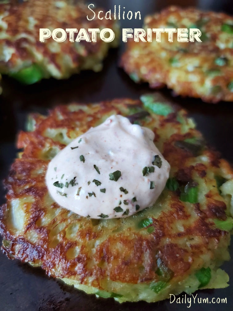 Scallion Potato Fritters