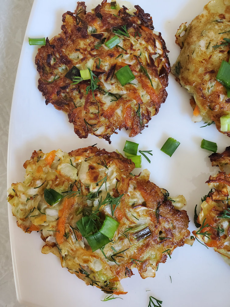 Cabbage pancakes, low carb and keto friendly