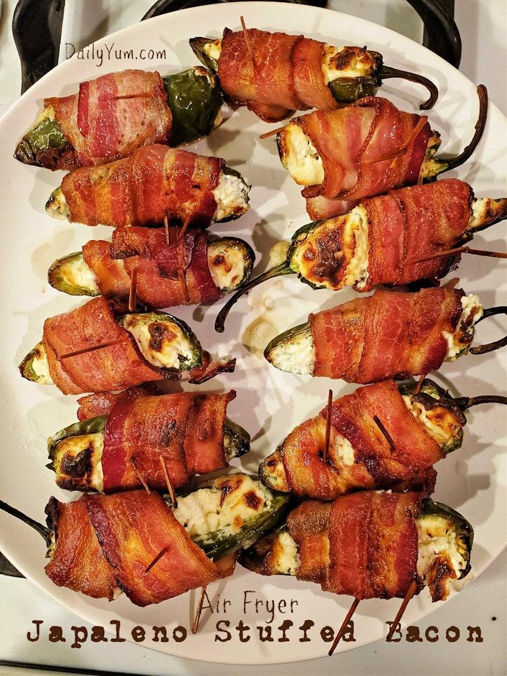 Air Fryer Jalapeno stuffed bacon