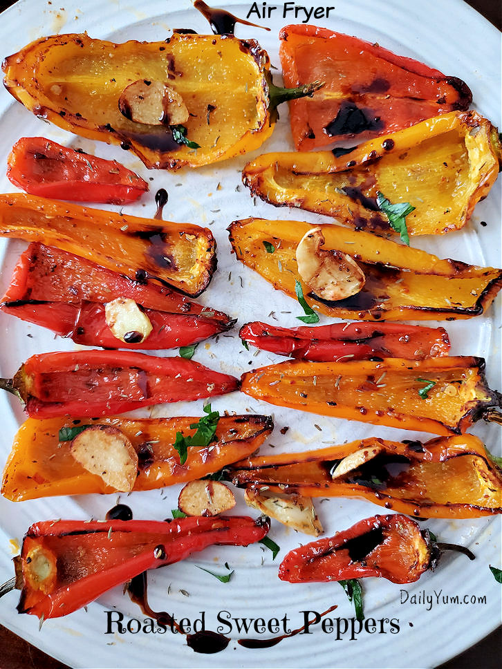 Air Fryer Roasted Sweet Peppers