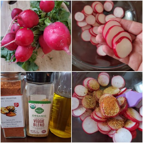 How to prepare radishes for cooking in the air fryer
