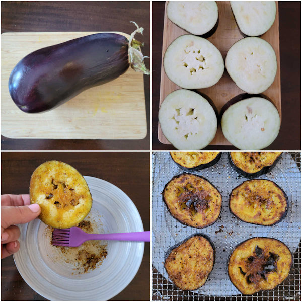 How to cook air fryer eggplant