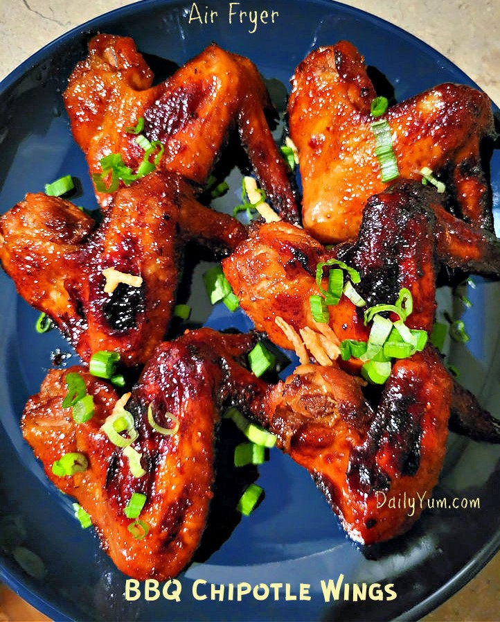 Air Fryer Barbecue Chipotle Chicken Wings