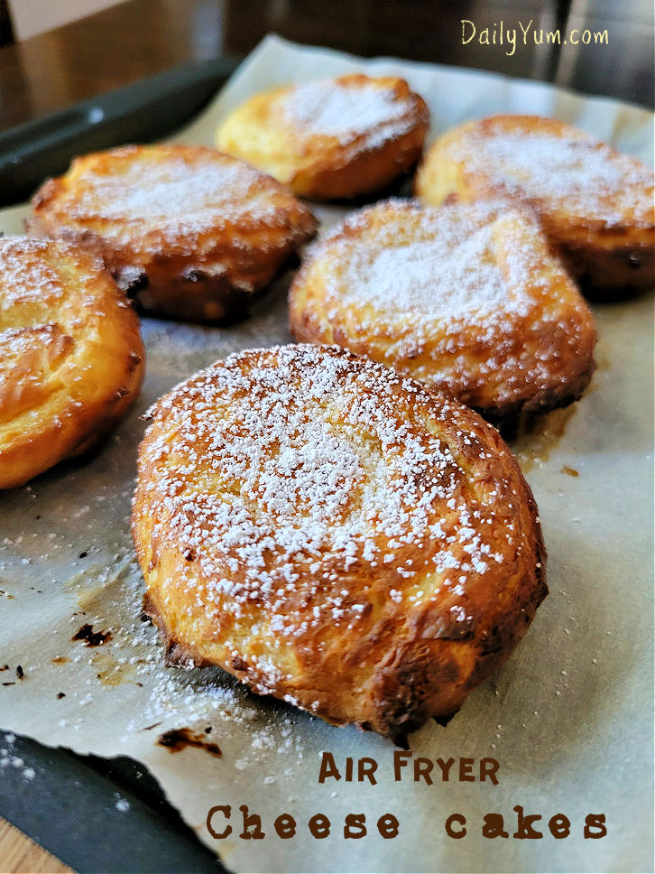 Air Fryer Creamy Cheesecakes