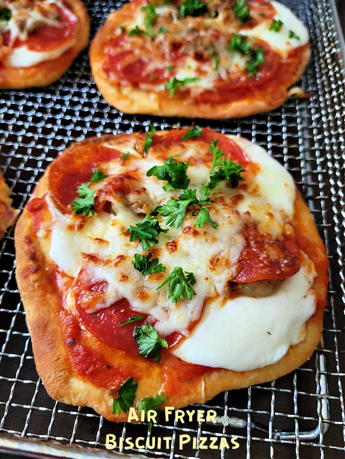 Air Fryer Biscuit Pizzas