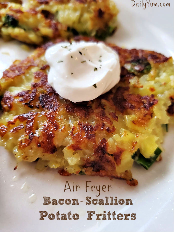Loaded Air Fryer potato fritters