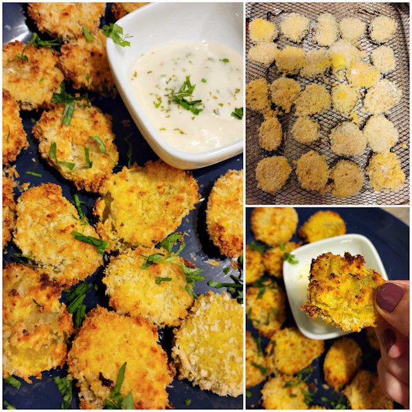 How to make air fryer fried pickle chips