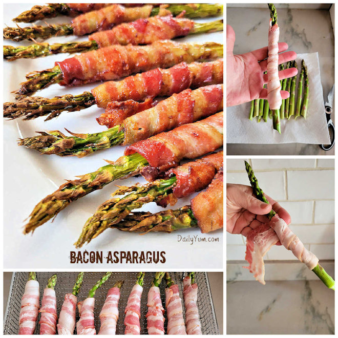 How to wrap asparagus in bacon