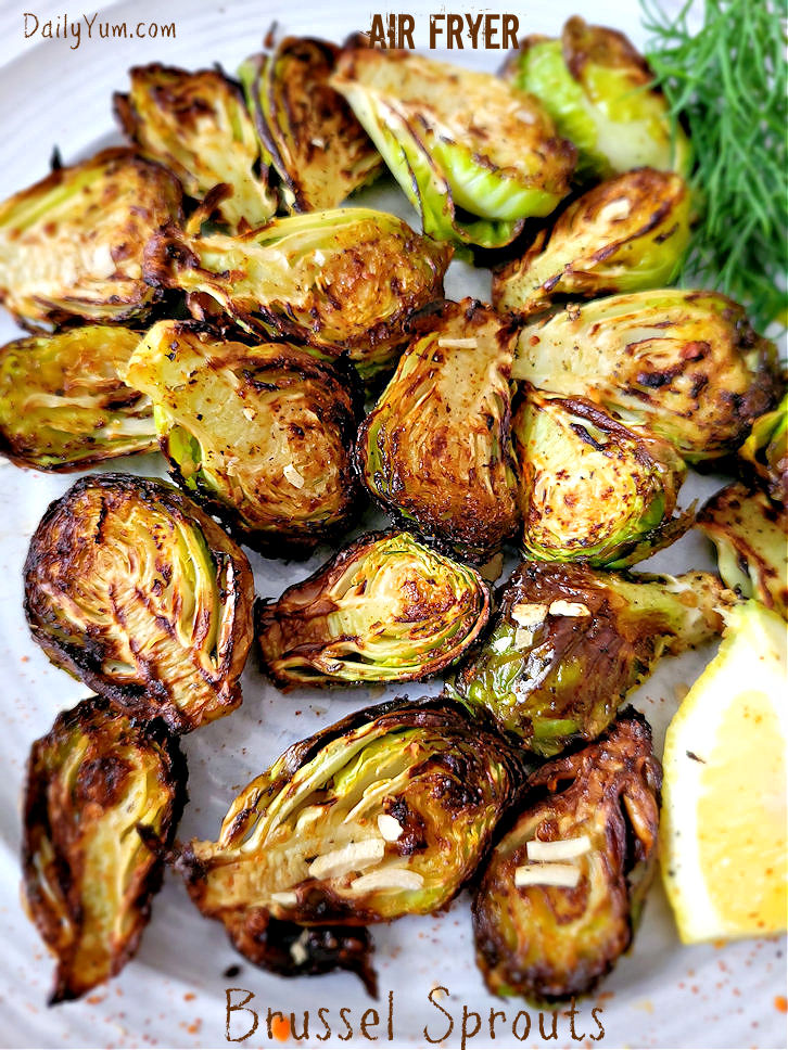 Air fryer roasted Brussel sprouts
