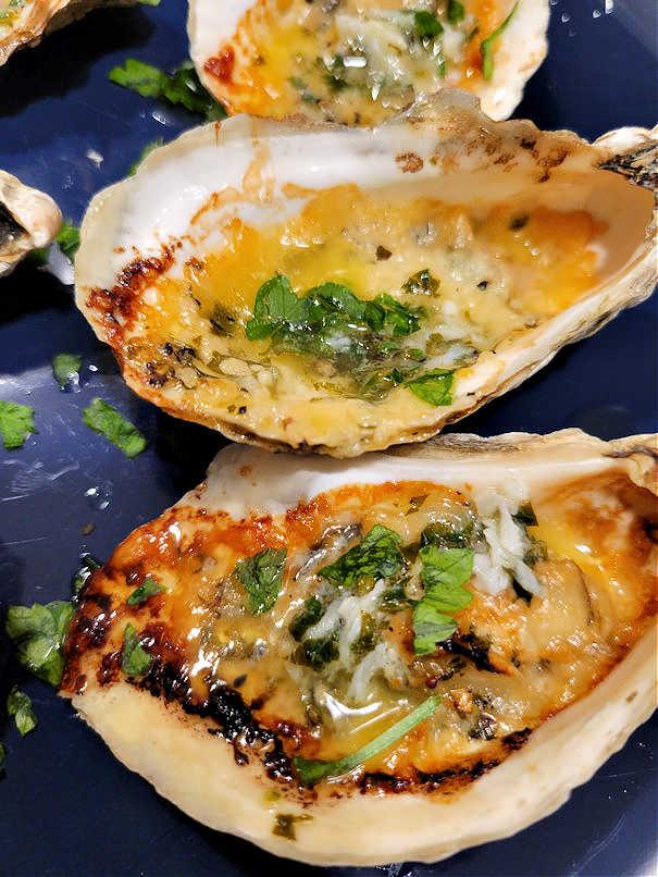 lemon garlic butter oysters baked
