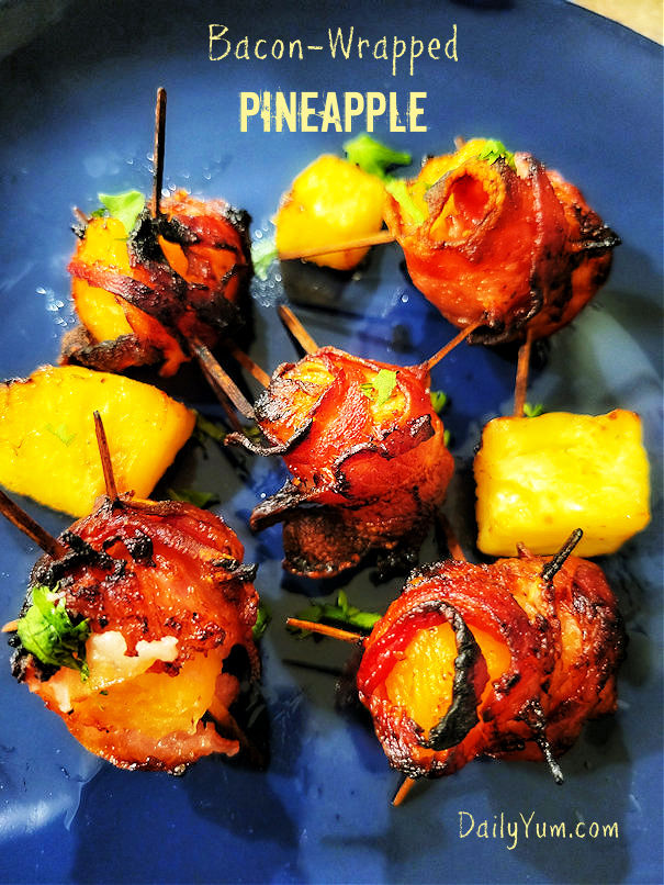 Air Fryer Bacon wrapped Pineapple