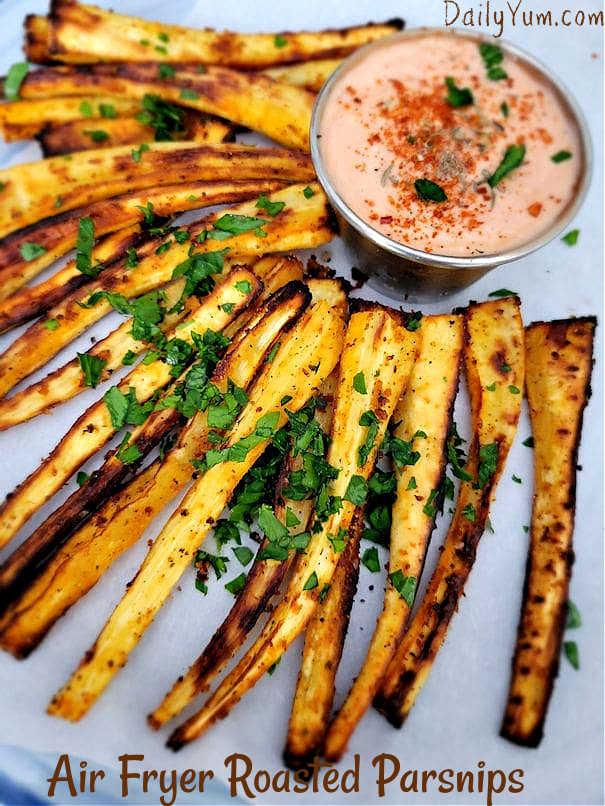 Air fryer roasted parsnip