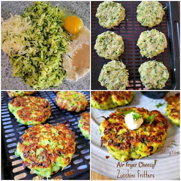 How to cook zucchini fritters in air fryer