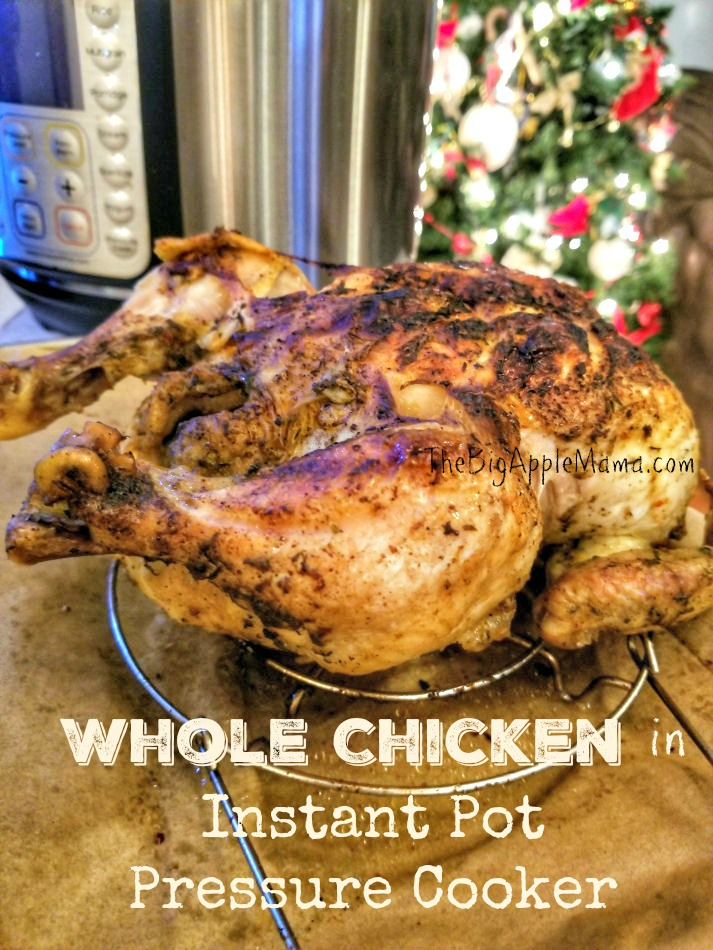 Instant Pot whole chicken, tender juicy inside and crispy outside.