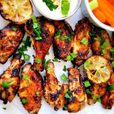 Crispy Air Fryer lemon pepper chicken wings recipe