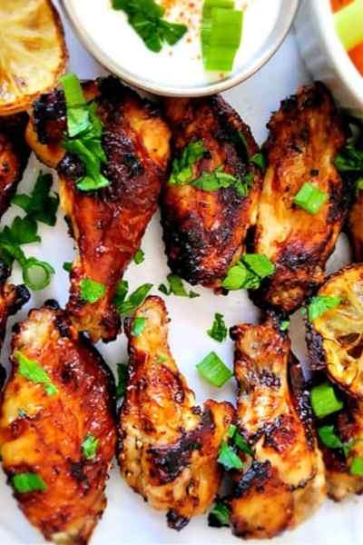 Crispy Air Fryer Honey Lemon Pepper Chicken Wings