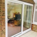 white patio door