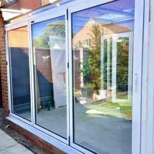 bi-fold doors white