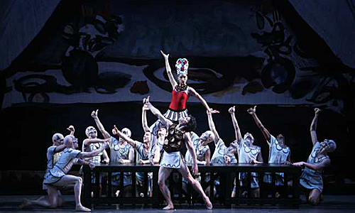 """Melissa Barak commands the stage as the Siren in Los Angeles Ballet's """"Prodigal Son"""""""