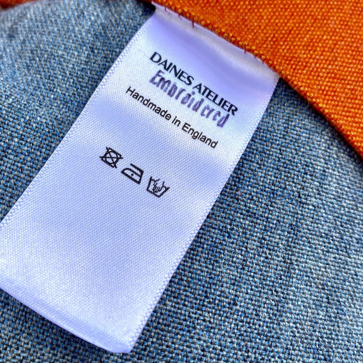 hand washing, care label, sustainable fashion, one of a kind