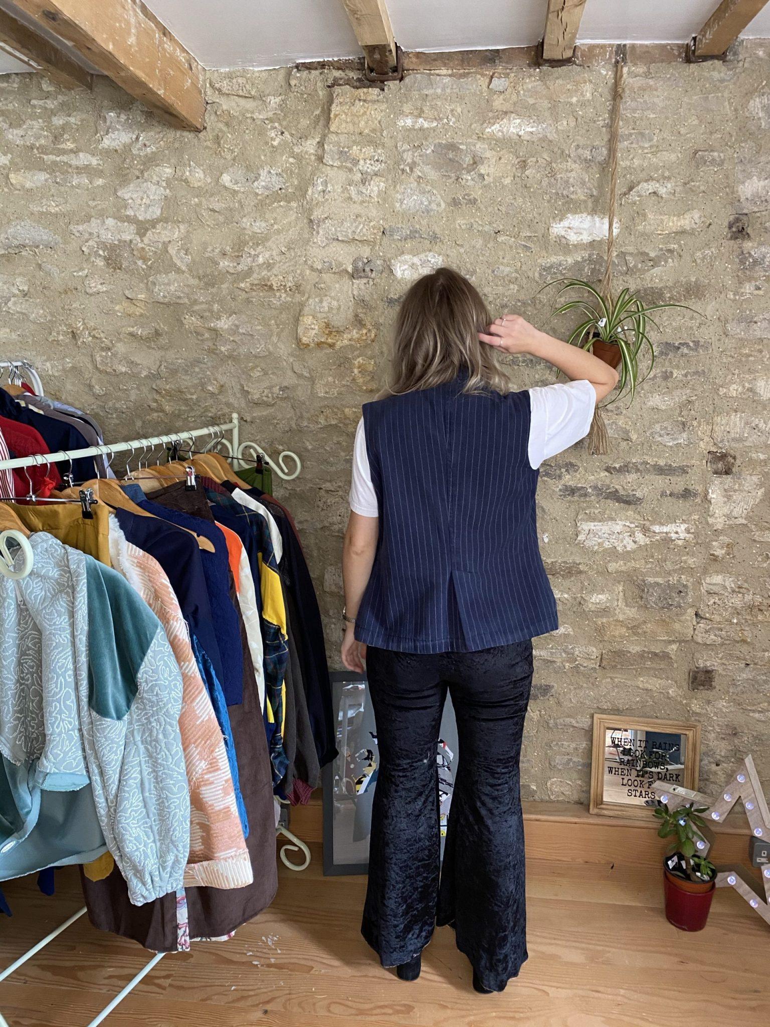 Back of Jacket upcycled sustainable ethical gender neutral