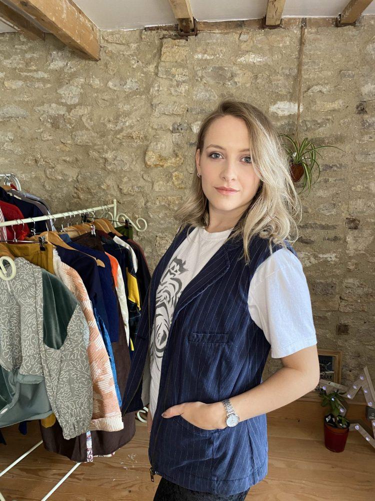 Utility Jacket with Pockets upcycled Fashion