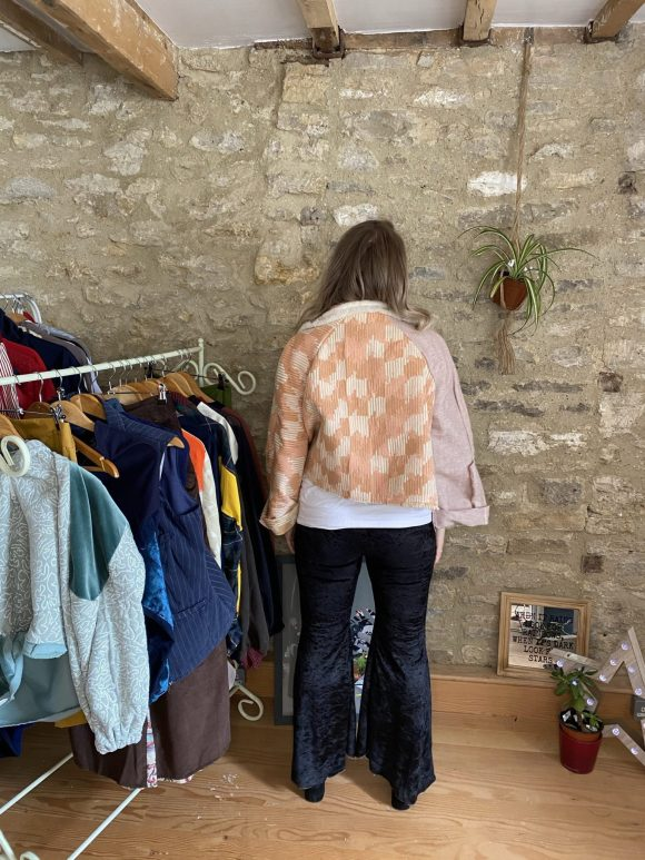 Sustainable and Ethical Fashion Back View of Daines Atelier Jacket