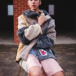 teddy coat/ jacket one of a kind ethical clothing