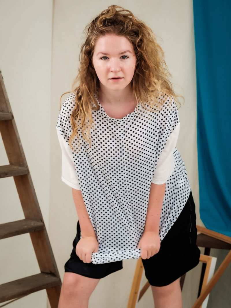 Oversized Polka Dot Tee unisex gender fluid edgy fashion