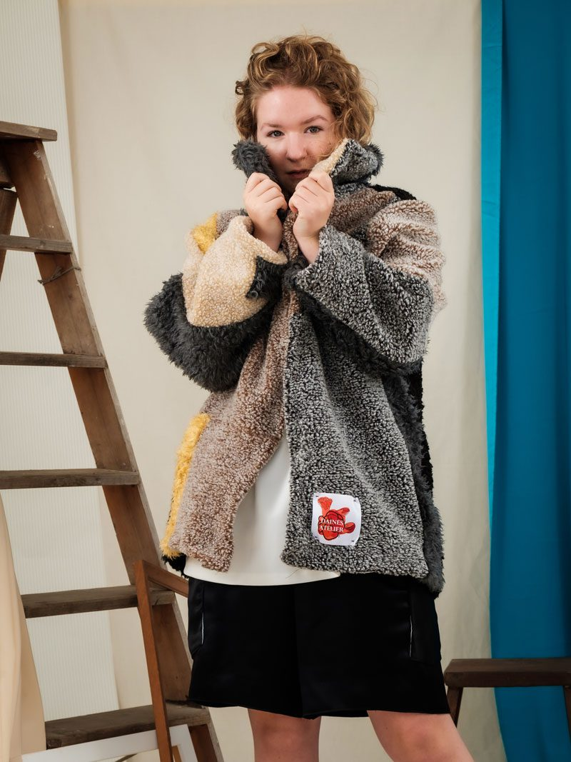 circular fashionuk england frome teddy bear coat oversized urban streetwear