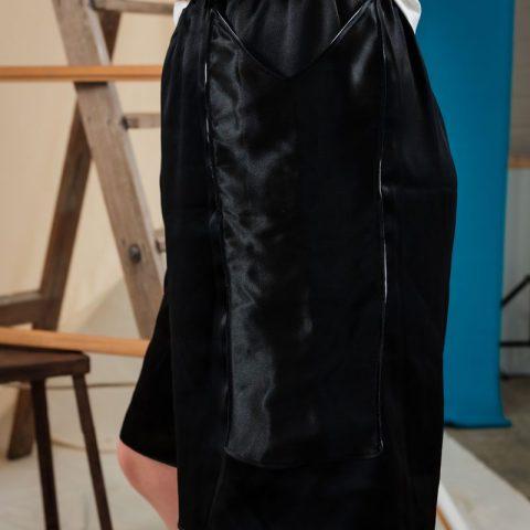 Shiny Shorts ethical Streetwear sustainable fashion upcycling