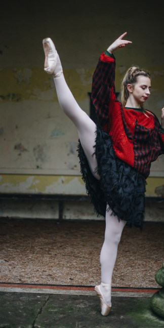Zero waste circular fashion upcycled clothing batwing oversized unisex handmade jumpers