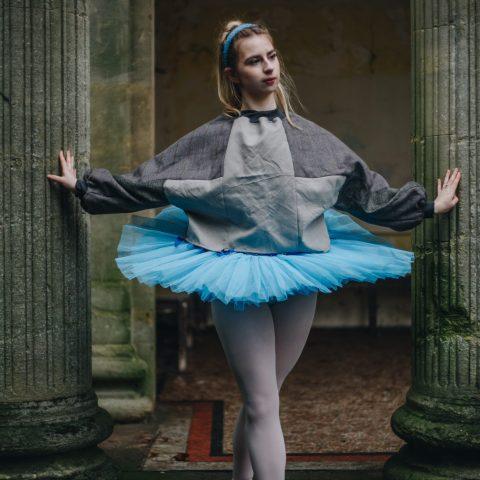 Zero waste circular fashion upcycled clothing batwing oversized unisex