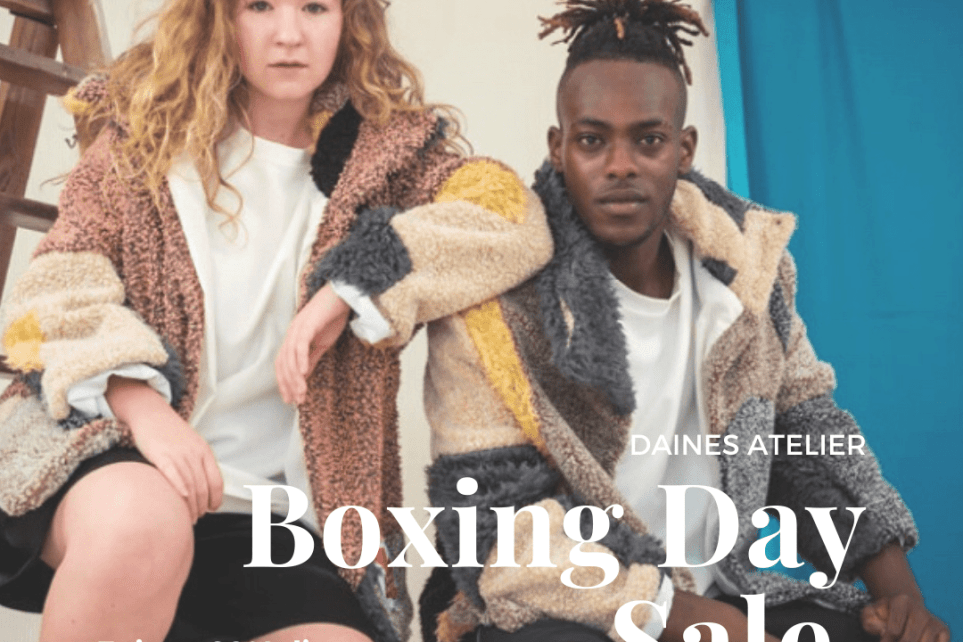 Boxing day sustainable fashion sale one of a kind