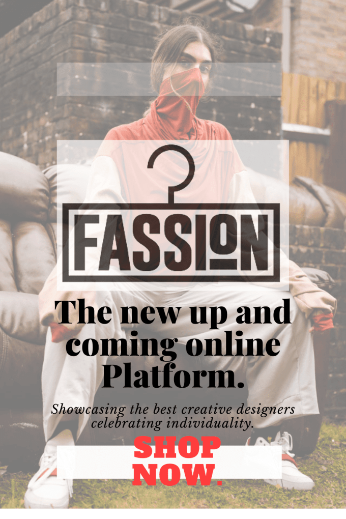 Fassion Pinterest pin to show new online platform showcasing creative designers who express individuality.