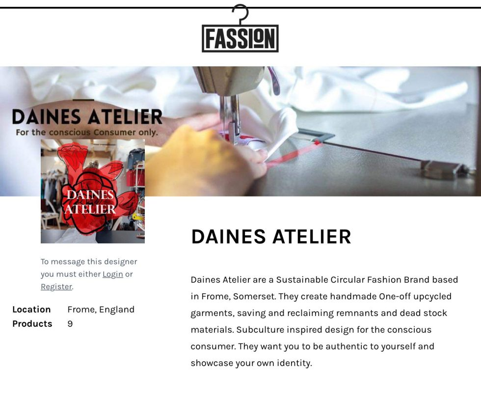 Daines Atelier profile on Fassion