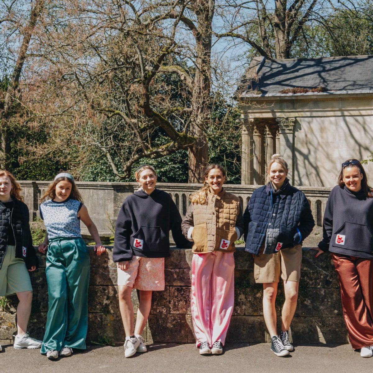 The made-to-order mimosa collection featuring quilted jackets, wide leg trousers and quilted hoodies. Dead stock materials from Amorthreads and Vintage remnants. Photography by Maisie Lee Walker in Bath