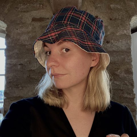 Bucket Hat made from remnant vintage materials. Eco Streetwear. Tartan Check