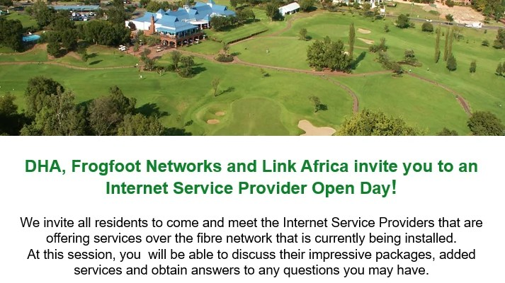 FIBRE TO THE HOME OPEN DAY:OPEN DAY -19 NOVEMBER 2016