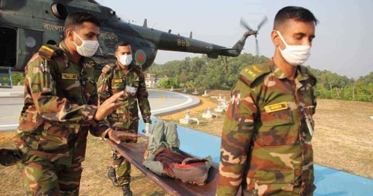 রাঙামাটির সাজেকে হামে আক্রান্ত শিশুদের জীবনরক্ষায় সেনাবাহিনী