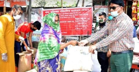 দিনাজপুরে ১০ টাকা কেজির চাল বিক্রি শুরু
