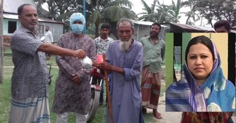 গৌরীপুরে হাজার মানুষকে খিচুড়ি খাওয়ালেন আ'লীগ নেত্রী পপি