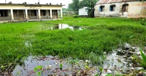 গৌরীপুরে ১৪ বছর ধরে একটি সরকারী  প্রাথমিক বিদ্যালয়ের করুন অবস্থা
