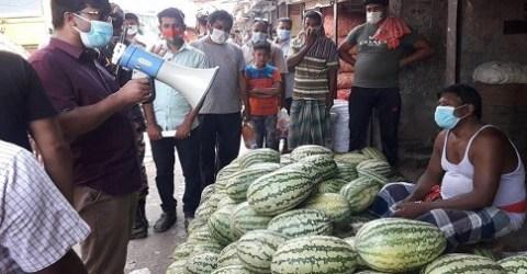 মাদারীপুরে কেজিতে তরমুজ বিক্রিয় দায়ে ১৪ ব্যবসায়ীকে জরিমানা