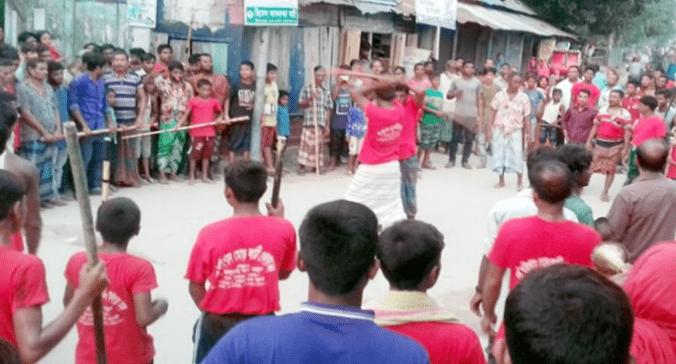 গাইবান্ধার সুন্দরগঞ্জে ঐতিহ্যবাহী লাঠি খেলা বিলুপ্ত প্রায়